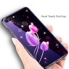 For Xiaomi Mi8 Lite Blue Ray Tempered Glass Case Mi 8 Plating Light Luxury Cases Phone Bag Cove