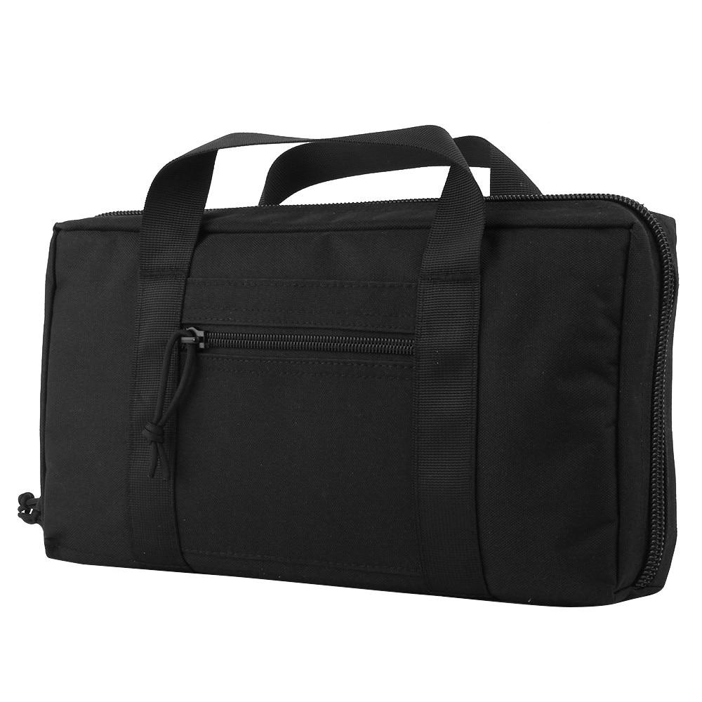 Tactical Pistol Gun Bag 1000D High Density Nylon Foam Pad Design Tactical Portable Military Bag Outdoor Camping 1000D Pouch