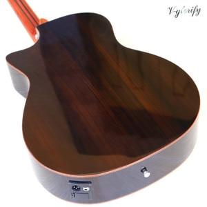 Image 4 - High grade flame maple topo corte design guitarra acústica elétrica de alto brilho 6 cordas folk guitarra com função sintonizador eq
