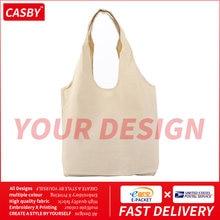 Fashion Design Pattern Canvas Tote Pocket All-match borse per la spesa personalizzate personalizzate nuovo Casual borsa a tracolla con Logo fai da te JR9