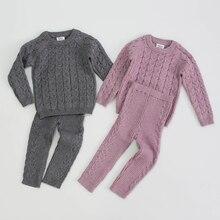 Girl Suit Baby-Boys-Girls Pants Base-Shirt Infant Kids Winter Knit Autumn Top Long-Sleeve
