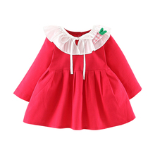 New New Autumn Baby Girl Dress 0-3T Toddler Children's Clothing New Long-sleeved Dress Korean Style Cotton Girls Princess Dress
