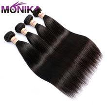 Weave Bundles Monika Hair-Extensions Remy Human Deals Straight 10-To-30inch-Bundle 100%Human-Hair