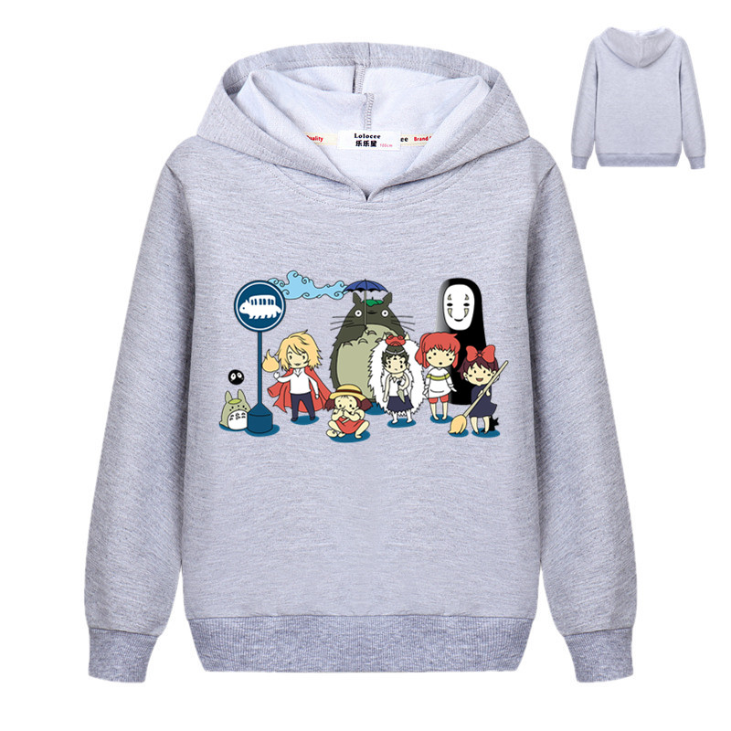 New Cute Totoro Sweatshirt Kids Boys Cartoon 3D Harajuku Casual Tops Girls Pullover Hoodies Student Clothes 1