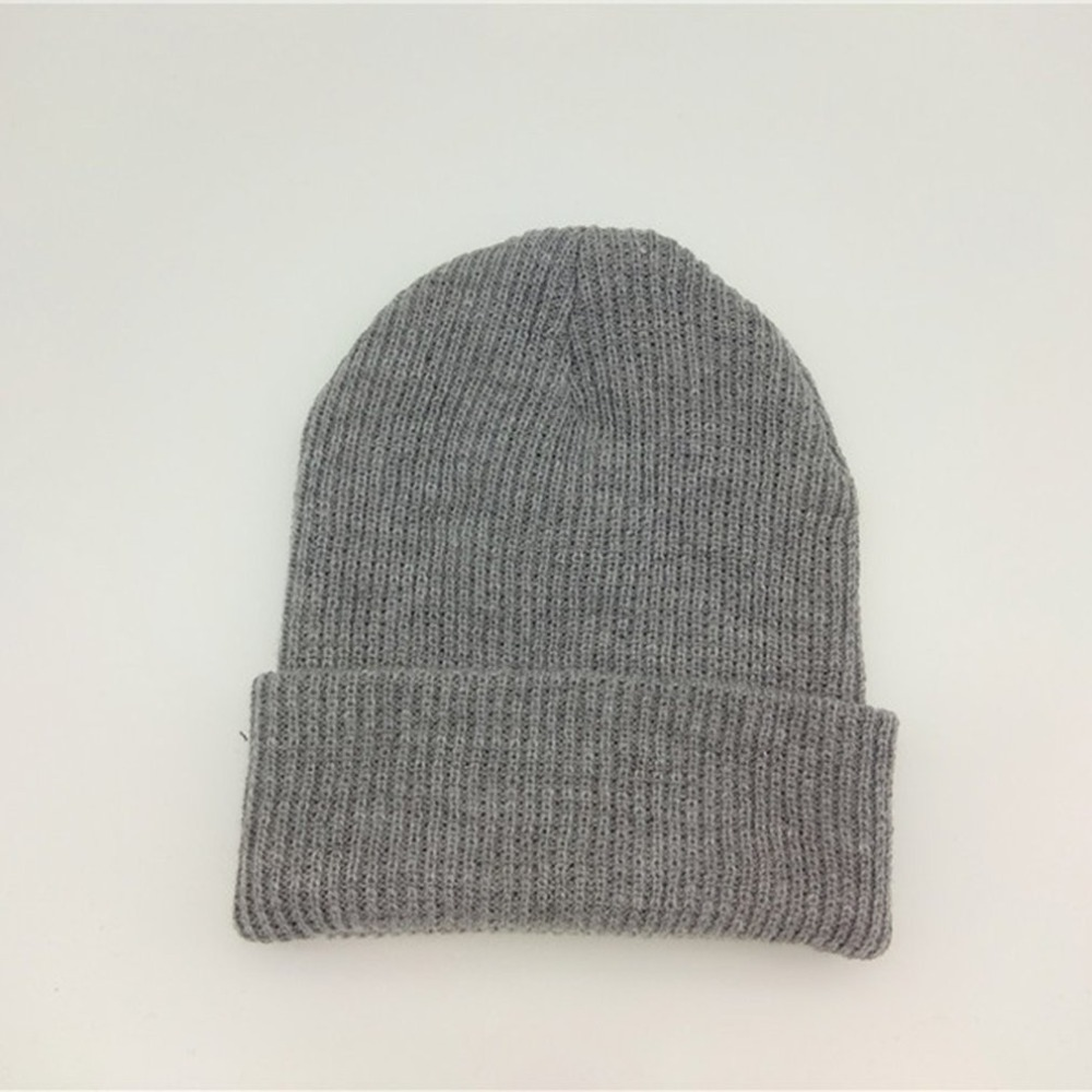 Solid Color Knitted Hat Women Winter HIP HOP Hat Caps Men Beanie Hat Warm Cap Knitted Wool Caps Beanie Hat Skullies Gorro