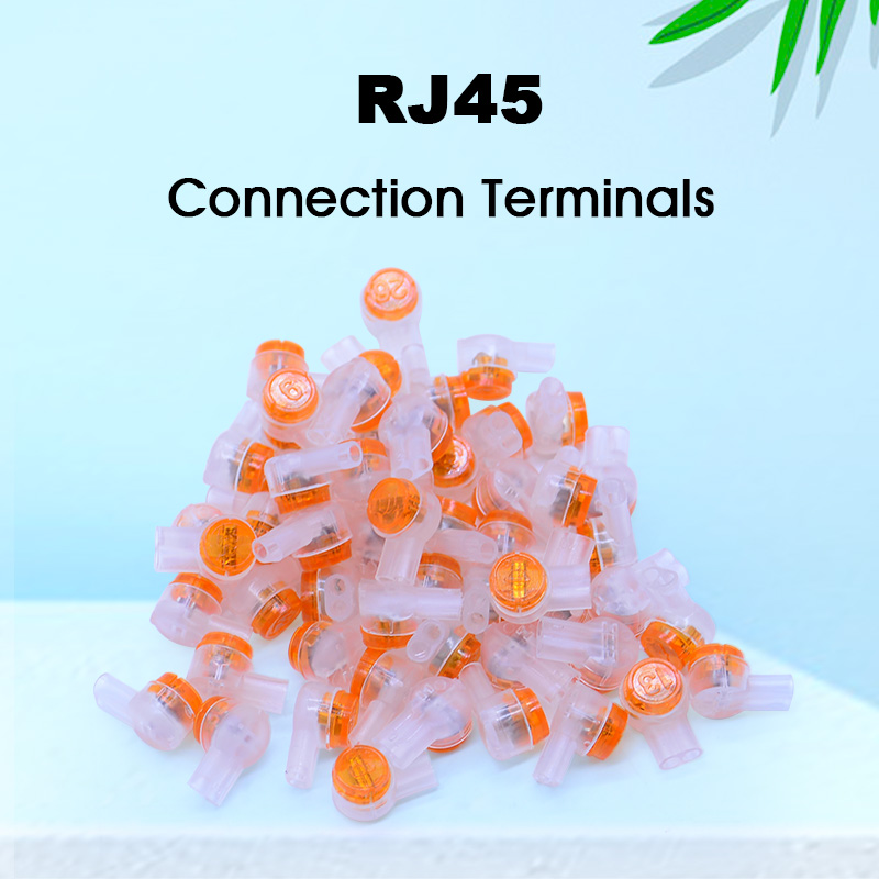 100pcs/Bag Rj45 Connector Crimp Connection Terminals K1 Connector Waterproof Wiring Ethernet Cable Telephone
