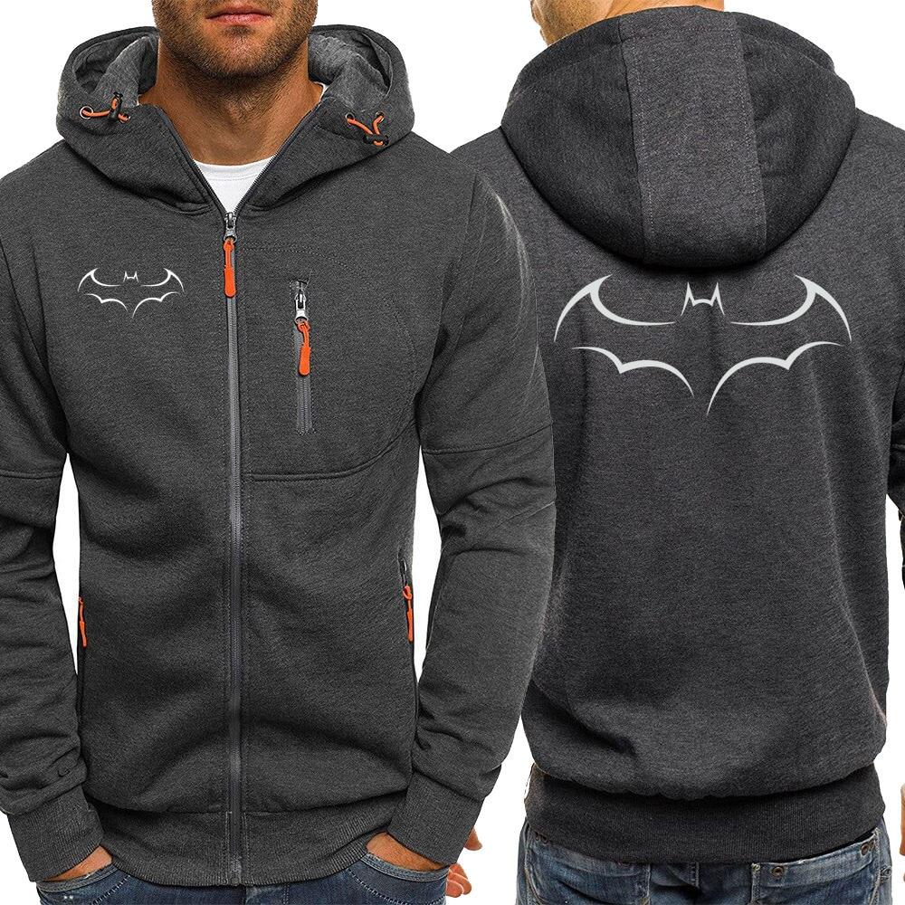 Autumn Hot Sale Fashion Brand Sweatshirt Mens Hoodies Batman Casual Zipper Jackets Male Warm Coat Sportswear Men Tracksuit