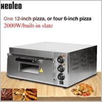 XEOLEO Pizza oven machine Pizza baking maker Electric Pizza baker machine Horizontal Single layer Bread ovens 2000W ~350 degree