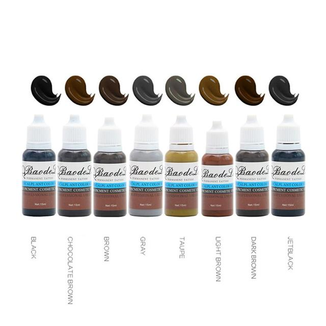 23 Colors Tattoo Pigment ink Eyebrow Lip Eyeline Pigment Coloring Cream Ink For Semi Permanent Body Paint Makeup Tool 4