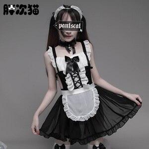Image 2 - Disfraz de camarera para mujer, traje de camarera para Cosplay, Sexy, para Halloween, disfraz de camarera para adulto y mujer, disfraz escolar