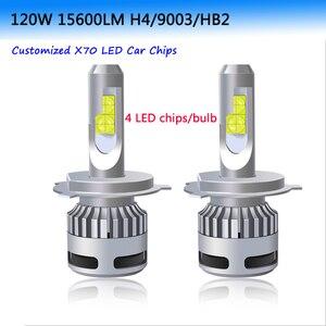 2 шт. 100 Вт 12000LM XHP70 автомобильный светильник H4 светодиодный светильник H7 светодиодный Canbus без ошибок 9005 HB3 лампа 9006 HB4 9012 H8 H9 H11 Светодиодный св...