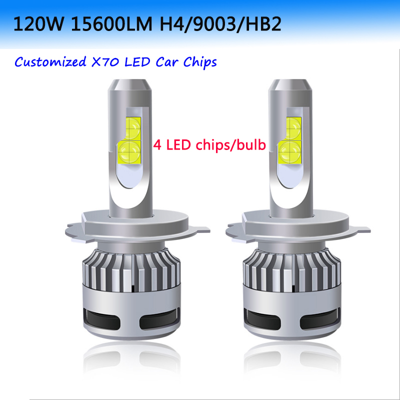 2PCS 100W 12000LM XHP70 Car Light H4 LED Bulb H7 LED Canbus Error Free 9005 HB3 Lamp 9006 HB4 9012 H8 H9 H11 LED Headlight bulb image