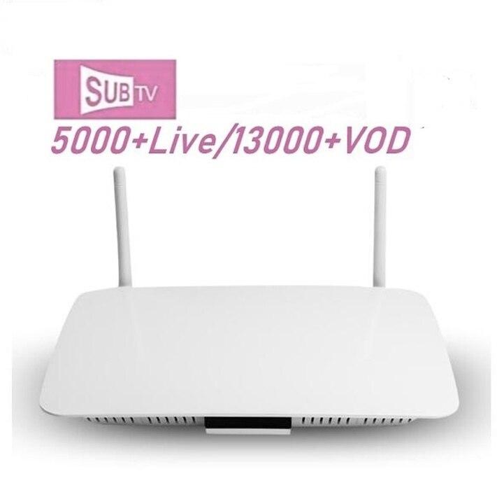 SUBTV Subscription Android 8.1 Q1404 4K IPTV Code 1 Year IPTV France Belgium Dutch Arabic Tunisia Algeria IP TV