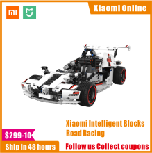 2020 Xiaomi MITU Intelligent Building Blocks Road Racing Car Kids Toy Electric Bluetooth 5.0 APP Smart Remote Control 900+ parts