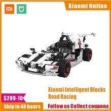 2020 Xiaomi MITU akıllı yapı taşları yol yarış arabası çocuk oyuncak elektrikli Bluetooth 5.0 APP akıllı uzaktan kumanda 900 + parçaları