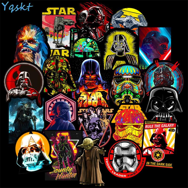 50 Pcs New Cool Star Warse Stickers For Laptop Car Fridge Skateboard Bike Guitar Backpack Luggage Decals Anime Cartoon Stickers