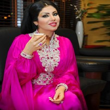 2018 Modern Chiffon Moroccan Arabic Kaftan Wholesalers Dubai kaftans Evening Long Sleeve Prom gown