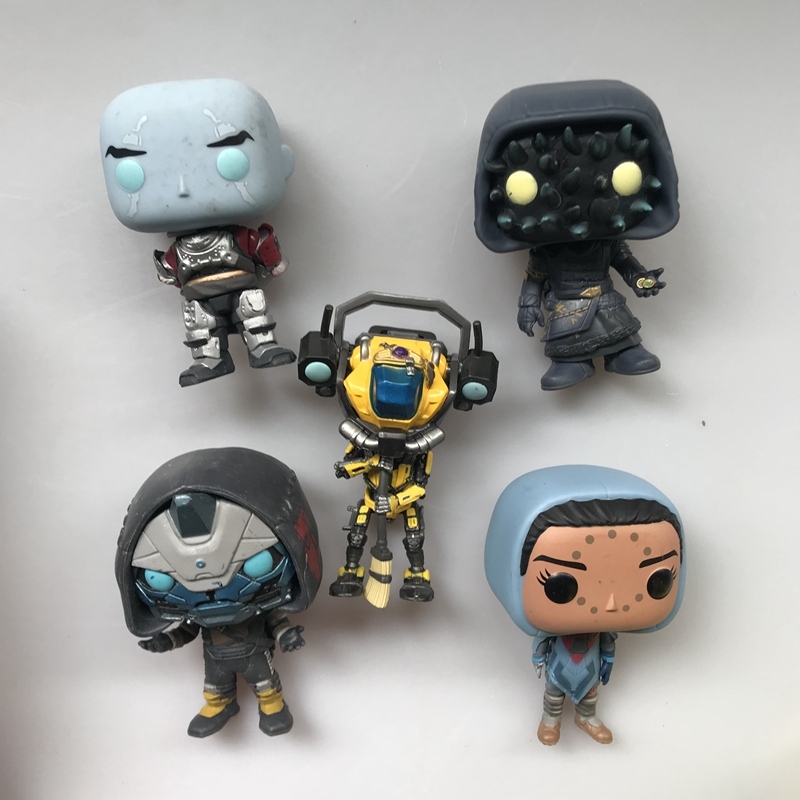 Exclusive Original Funko Pop Secondhand Games: Destiny - Cayde, Sweeper, Lur Vinyl Action Figure Collectible Model Loose Toy