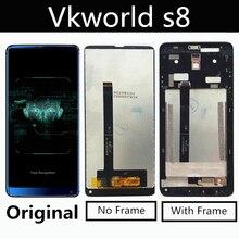 オリジナルvkworld S8 lcdディスプレイ + タッチスクリーン + ツールデジタイザアセンブリ交換用アクセサリーホーン5.99