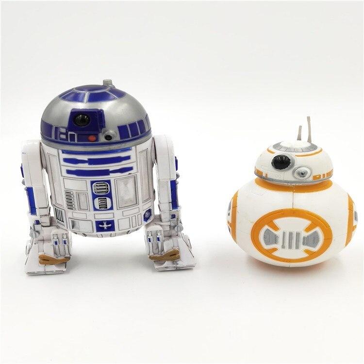 Disney Star Wars Awakens BB8 Skywalker Robot R2-D2  Yoda Jedi Knight Master PVC Action Figure Model Toys 8-12cm Gift For Kids