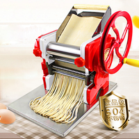 New Household Manual noodles machine stainless steel pasta machine Pasta Maker Machine Commercial Use 18cm noodle roller width|Electric Noodle Makers| |  -