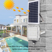 80 LED Multifunctional Solar Wall Lamp Motion Sensor Classic Texture Durable Practical Outdoor Path Security Floodlight