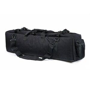 Image 4 - M249 التكتيكية بندقية حقيبة النايلون الحافظة الصيد Airsoft الألوان حقيبة بندقية في الهواء الطلق حقيبة صيد متعددة الوظائف على ظهره
