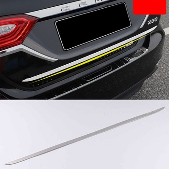 Lsrtw2017 Stainless Steel Car Rear Door Trunk Gate Strip Trims for Toyota Camry XV70 2018 2019 2020 Accessories Chrome