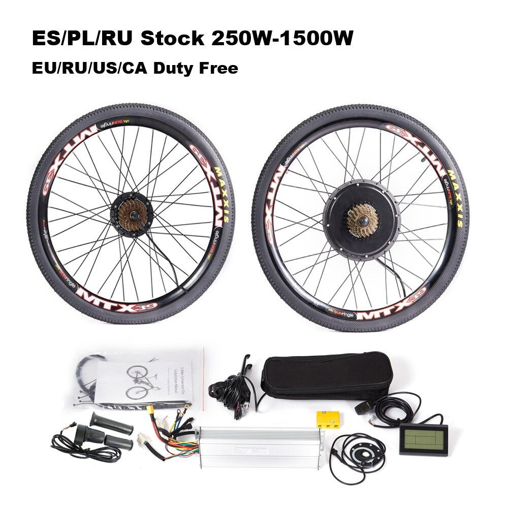 Комплект для электровелосипеда, 36 В, 250-1500 Вт, 48 В, с ободом MTX для дискового тормоза, горный велосипед 20-29 дюймов 700C, полный комплект для электр...