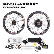 Kit de bicicleta elétrica 36v 250w-1500w 48v com aro mtx para a conversão de bicicleta de montanha de freio a disco 20-29 700700c kit completo ebike