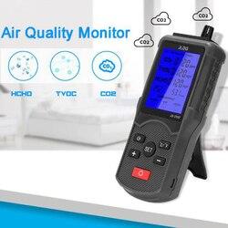 Multifuncional testador de qualidade do ar co2 tvoc medidor temperatura e umidade dispositivo medição detector gás