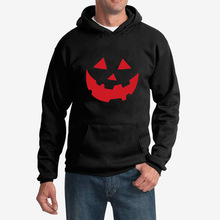LISCN 2019 Autumn Youth Hoodie Halloween Pumpkin Smiley Print Long Sleeve Hooded Loose Sports Pullover