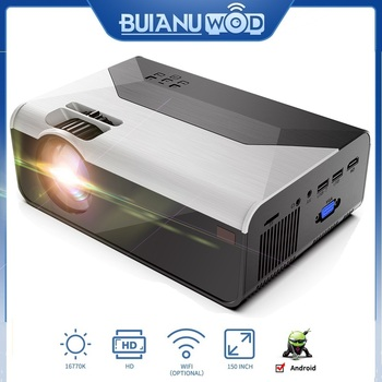 BUIANUWOD G08 Home Theater Projector 480P/720P LED 150'' Full HD 1080P WIFI Android Bluetooth Proyector Support AC3 Dolby Sound buianuwod g08 home theater projector 480p 720p led 150 full hd 1080p wifi android bluetooth proyector support ac3 dolby sound