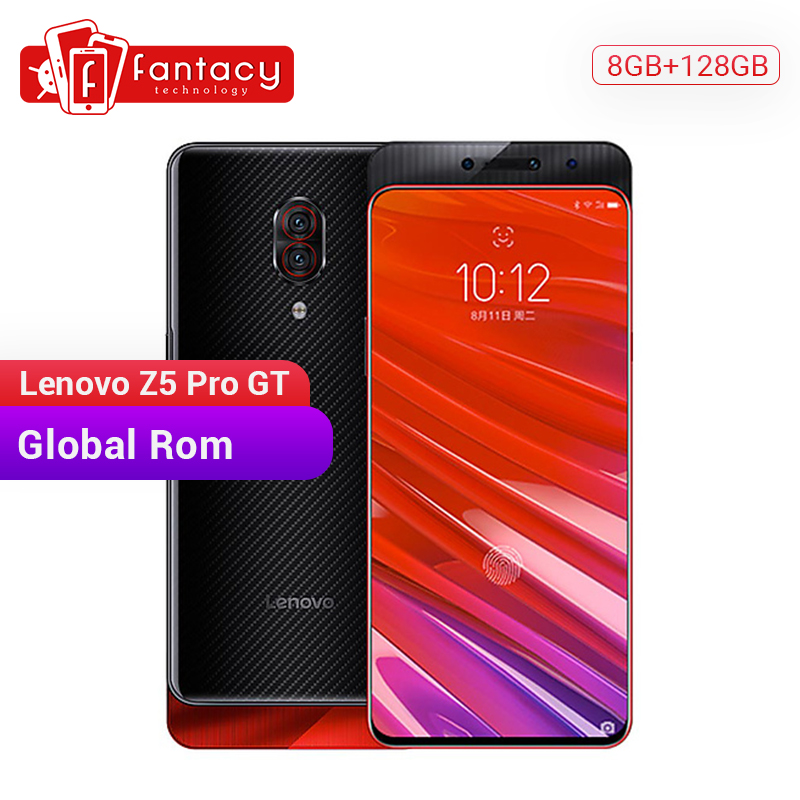 Global ROM Lenovo Z5 Pro GT Snapdragon 855 Smartphone 8GB RAM 128GB ROM 6.39'' In-Screen Fingerprint Android 24MP Cameras NFC