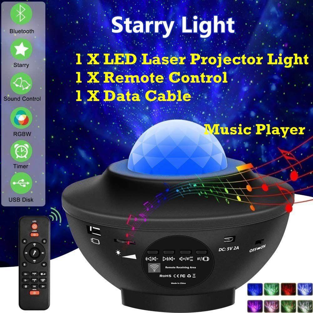 Рождественский подарок, светодиодный ночник, светильник, проектор, звезда, луна, небо, вращающийся сон, романтическая светодиодная USB лампа ...