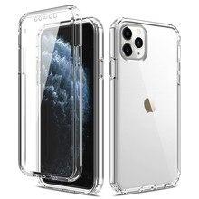 Volle Körper 360 Fall Für iPhone 11 Pro Max Xs Xr X 7 8 Plus 6 S 6 SE2 Transparent klar Silizium Weichen Telefon Abdeckung Für iPhone 12 Mini
