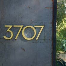 Big Floating House Number Sign Golden 15cm Modern Building Signage Outdoor Huisnummer Numeros Casa Door Numbers Address Plate