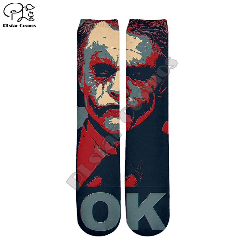 PLstar Cosmos Joker Joaquin Phoenix Colorful Unisex New Fashion 3Dfull Print Women/men/boy/girl Cool Warm Cotton Ankle Socks S-3