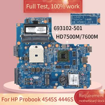 For HP Probook 4545S 4446S 11242-1 693102-501 216-0833002 HD7500M/7600M Notebook motherboard Mainboard full test 100% work