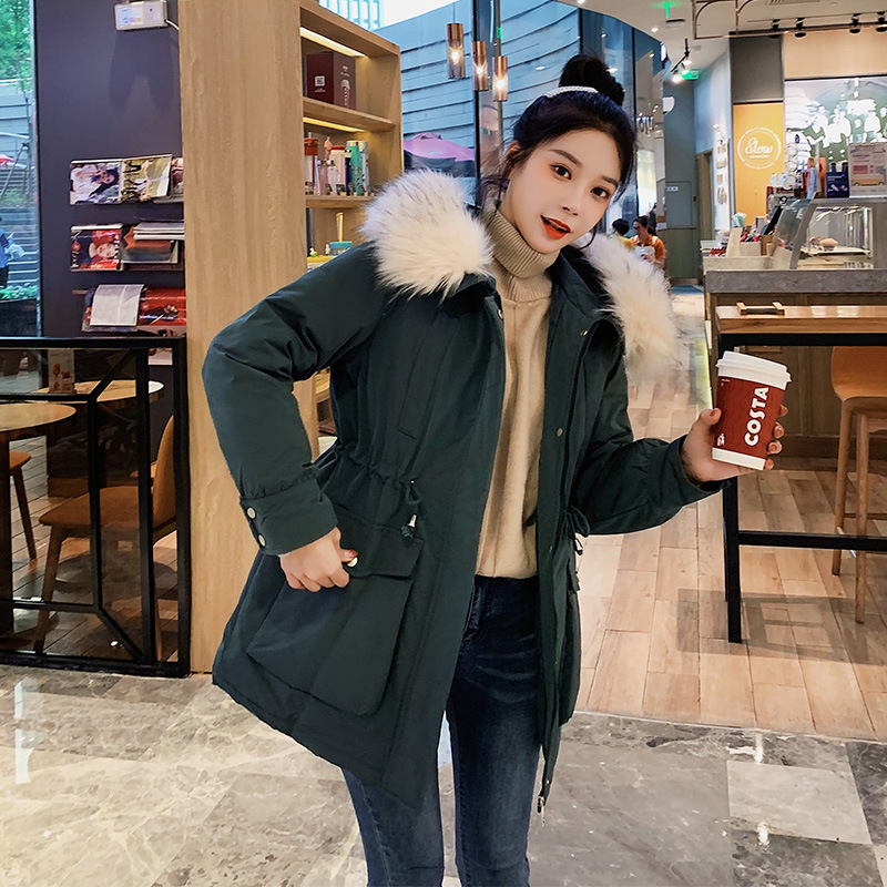 Foreign Trade 2019 Winter New Style Down Jacket Cotton-padded Clothes Women's Loose-Fit Thick Waist Hugging Cotton-padded Clothe