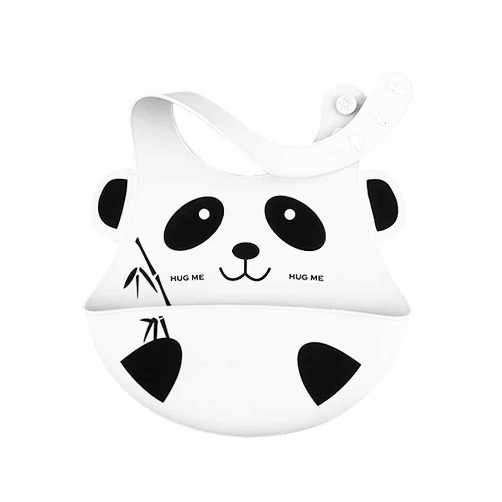 Three-dimensional Waterproof Children's Dinner Pocket Baby Silicone Bib Baby Bib Saliva Towel Can Be With The Panda Food Pocket