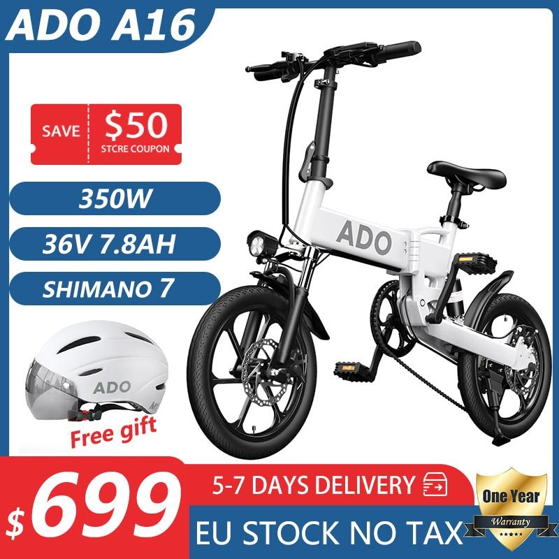 ADO-A16-bicicletta-elettrica-350W-bicicletta-elettrica-galleggiante-16inche-Ebike-portatile-25-km-h-velocit-massima Offerta ADO A16 a 554€: Mini Bici Elettrica da 16 pollici