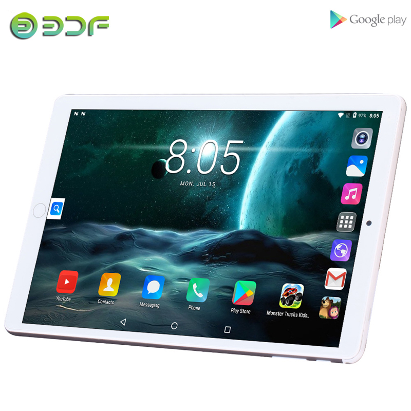Real Upgrade 10.1 Inch Tablets Android 7.0 Tablet 3G Phone Call 4GB+32GB OCTA Core Wi-Fi Bluetooth Dual SIM Tablet PC+Keyboard
