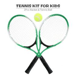 2 szt. Rakieta tenisowa dla dzieci String rakiety tenisowe z 1 piłka tenisowa i pokrowiec torba Outdoor Sport tenis praktyka rakieta dla dziecka|Rakiety tenisowe|   -