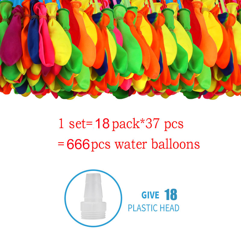 666pcs Water Bomb Balloons Water Balloon Summer Play with Water Bombs Balloon Swimming Pool Game Kids Summer Gift