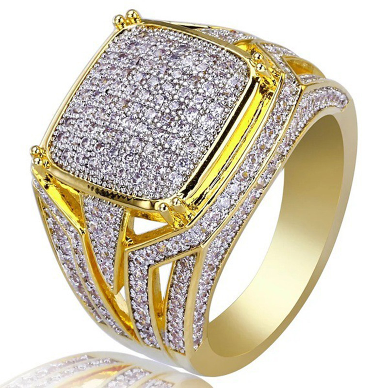 Fashion Hip Hop Style Ring Wedding Proposal Bride Men Ring Brand Jewelry Size 5-12 for men Ring Jewelry Gift(China)