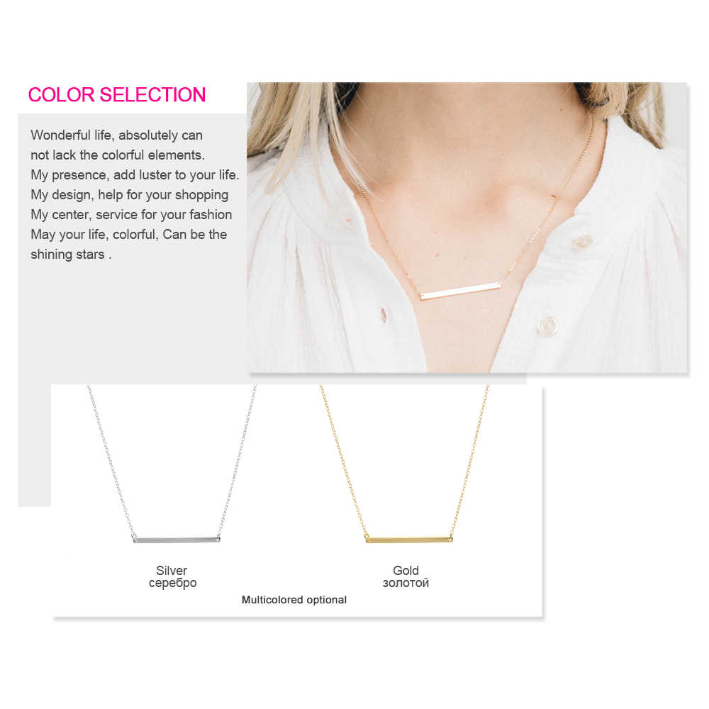 Minimalist Chokers Necklace For Women Gold/Silver Chain Stainless Steel Necklace Geometric Pendant Simple Cute Girls Jewelry New