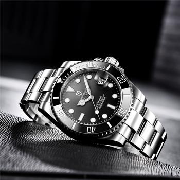 PAGANI DESIGN nowy 40mm mężczyźni automatyczny zegarek mechaniczny szafirowe szkło zegarek ze stali nierdzewnej zegarek męski zegarki reloj hombre tanie i dobre opinie 10Bar CN (pochodzenie) Zapięcie bransolety BIZNESOWY Mechaniczna nakręcana wskazówka Samoczynny naciąg 22cm STAINLESS STEEL