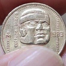20 мм Мексика, настоящая монета, оригинальная коллекция