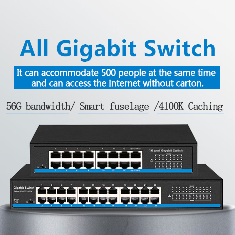 <font><b>16</b></font> <font><b>Port</b></font> RJ45 <font><b>Gigabit</b></font> Ethernet <font><b>switch</b></font> lan ethernet <font><b>switch</b></font> für ip kamera AP wireless image